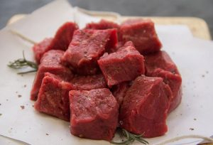 season pureland america steak tips while raw for better flavor