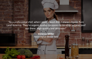 professional chef testimonial to pureland america beef product