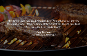family testimonial for the quality of pureland america beef products
