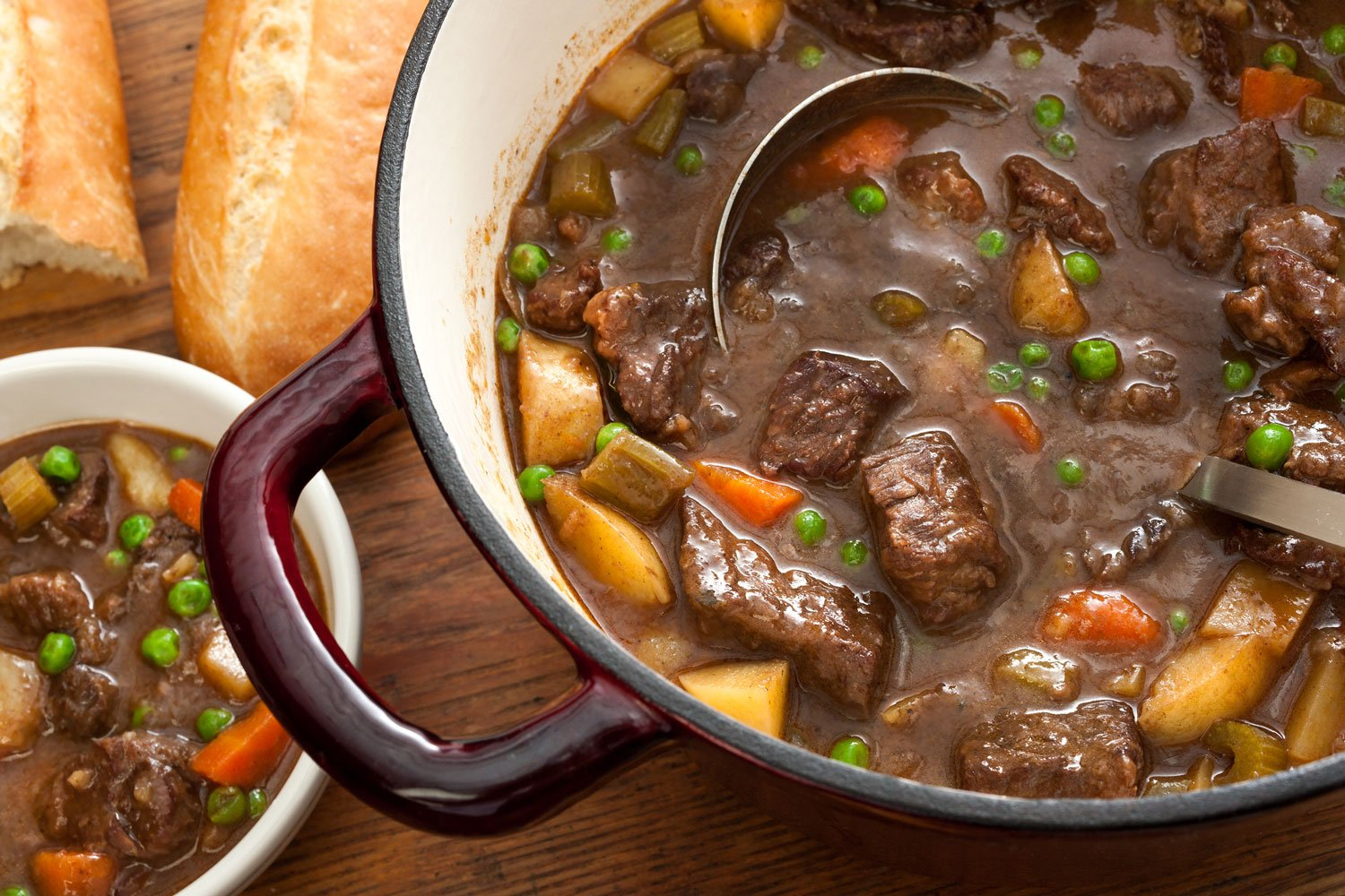 potatoes and carrots with organic grass fed beef make the best stew recipe