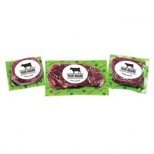 Organic Grass Fed Beef Tenderloin Steak in package, Organic Grass Fed Beef NY Strip Steak in package and Organic Grass Fed Beef Sirloin Steak in package,