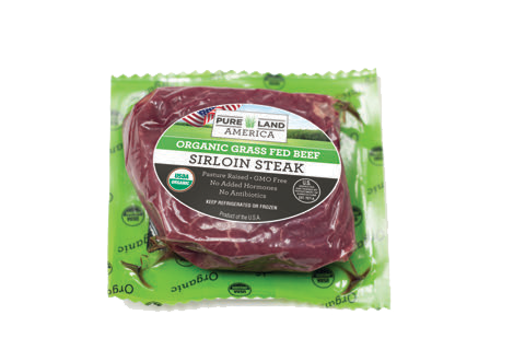 organic grass fed sirloin steak from pureland america