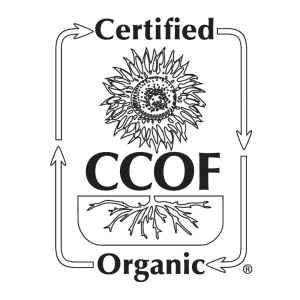 certified CCOF organic label found with pureland america products