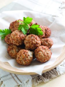 grass fed beef with seasoning make the best seared meatballs