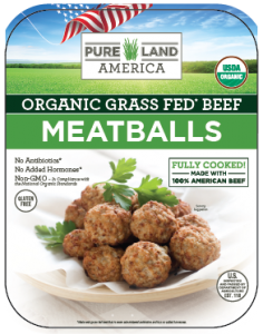 usda organic pureland america meatballs family package
