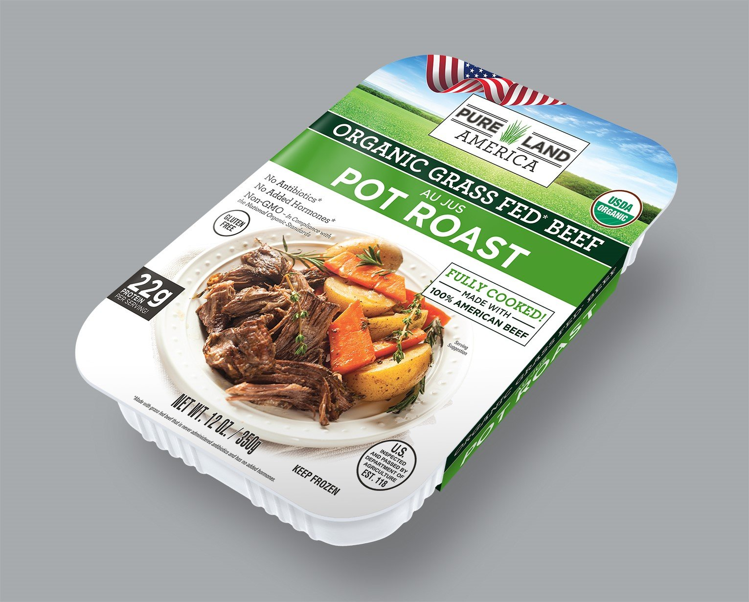 best frozen organic pot roast pureland america